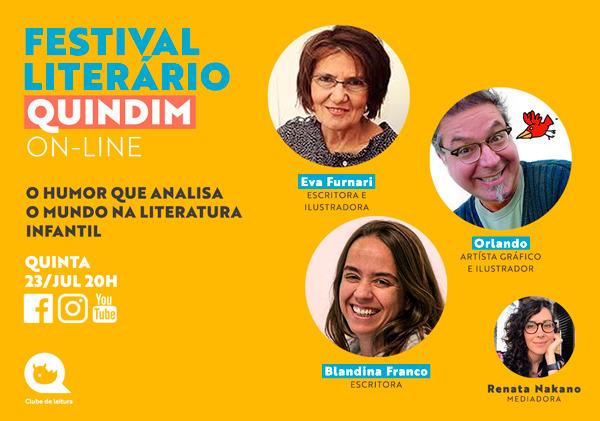 Festival Literário Quindim On-line inicia neste mês