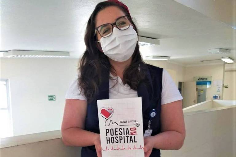 Enfermeira já escreveu mais de 200 poesias para pacientes