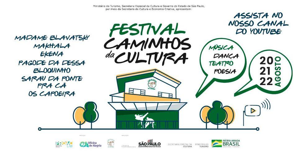 Festival Caminhos da Cultura: evento online com poesia e outras artes